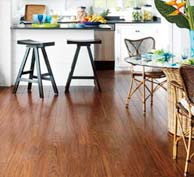 Pergo laminate floors near NJ and NYC available at Korkmaz, Asian Mahogany color